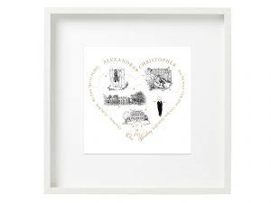 Gold Love Heart Unique Gift Copy