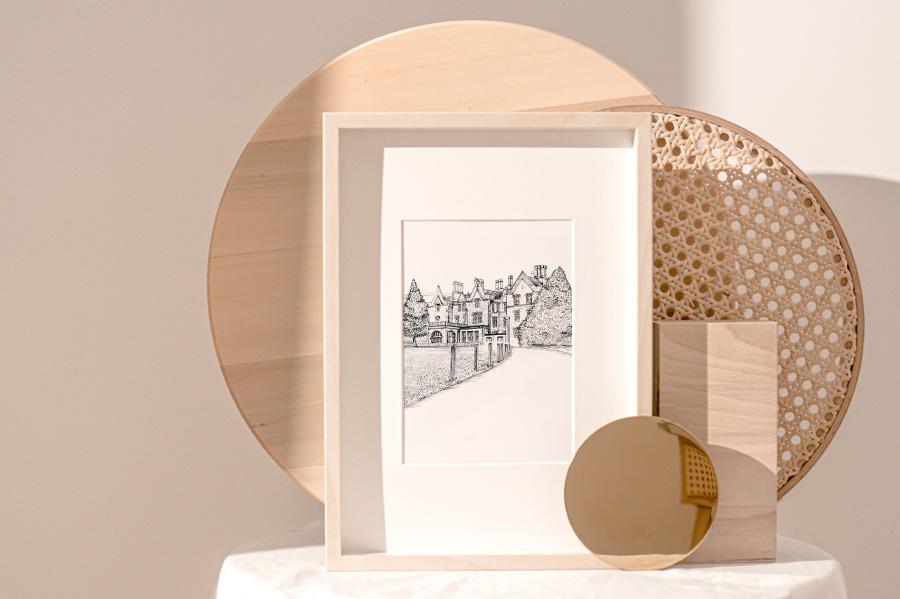 Bespoke House Illustration Gift New Home