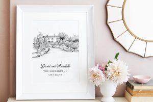 Frame Painting Wedding