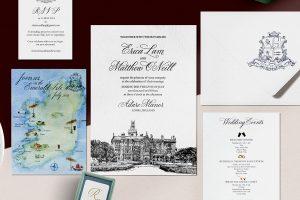 Venue Illustration Wedding Stationery