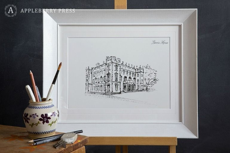Pen Illustration Borris House