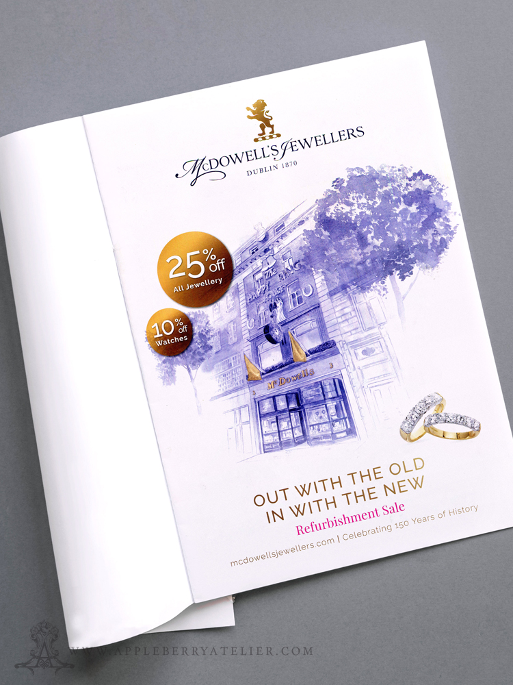 McDowell Jewellers Corporate Illustration