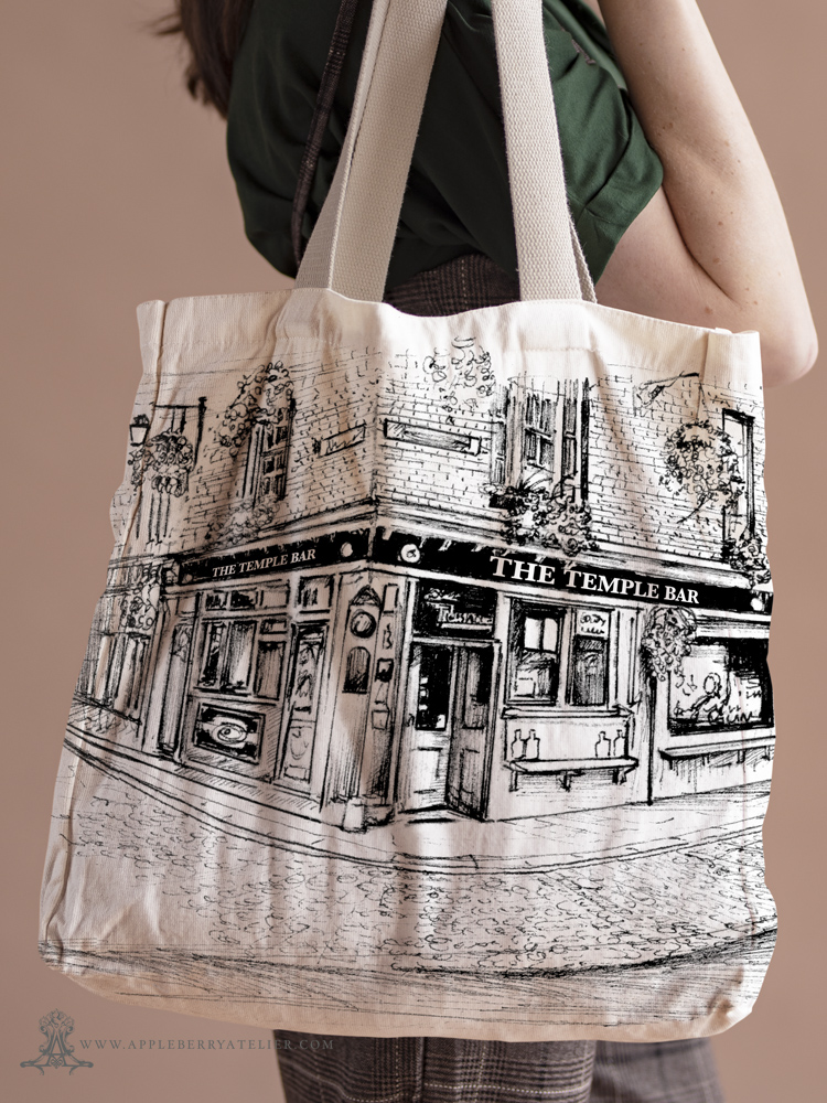 Bespoke Canvas Bag Tote Temple Bar