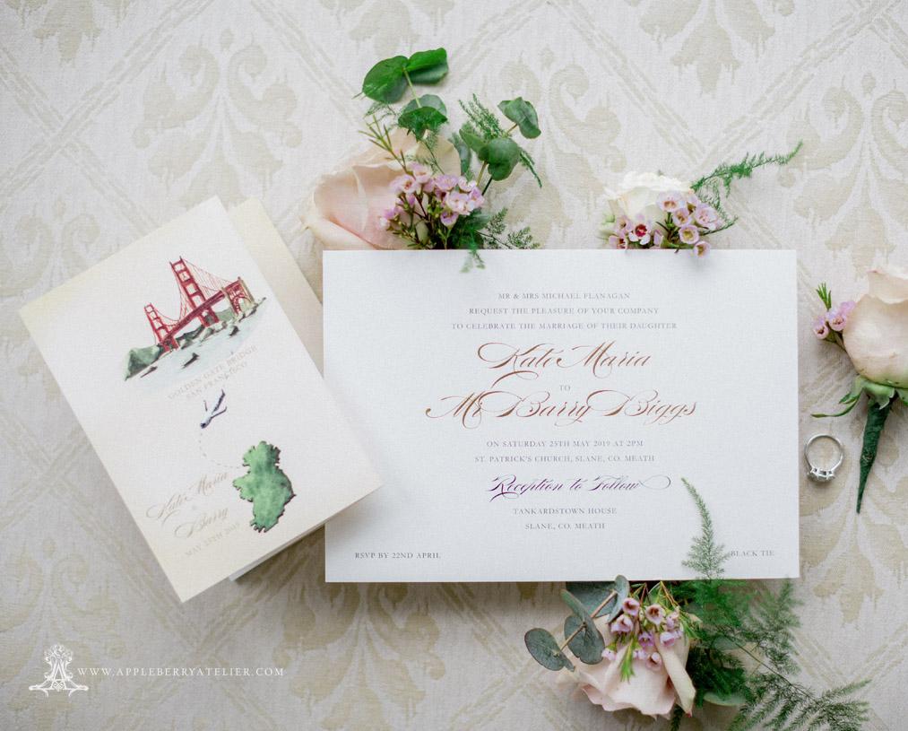 Bespoke Wedding Invitation Map