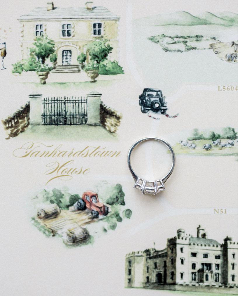 Illustrated Wedding Map