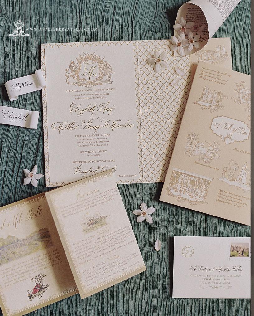 Letterpress Pocket Venue Invitation