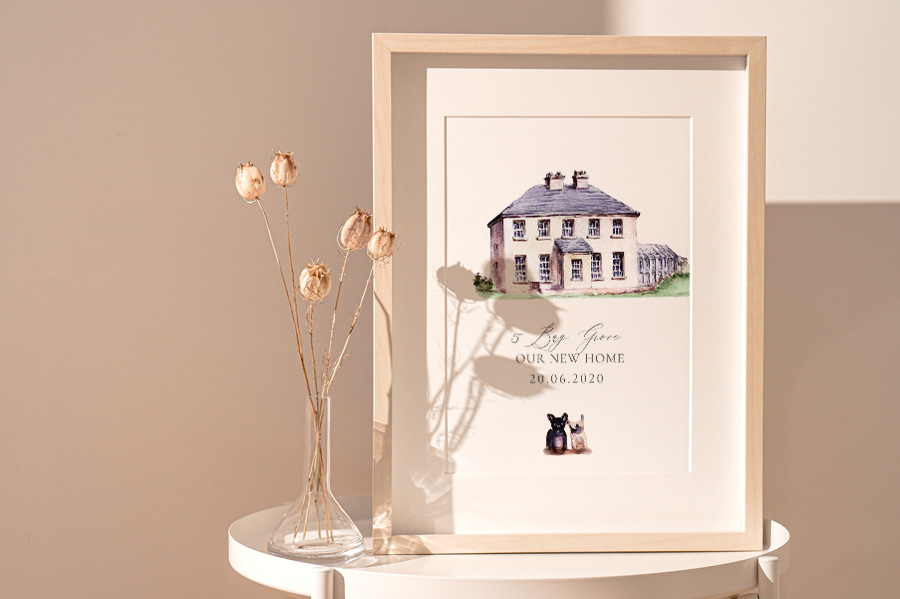 Bespoke Painting Home, House Portrait Watercolor