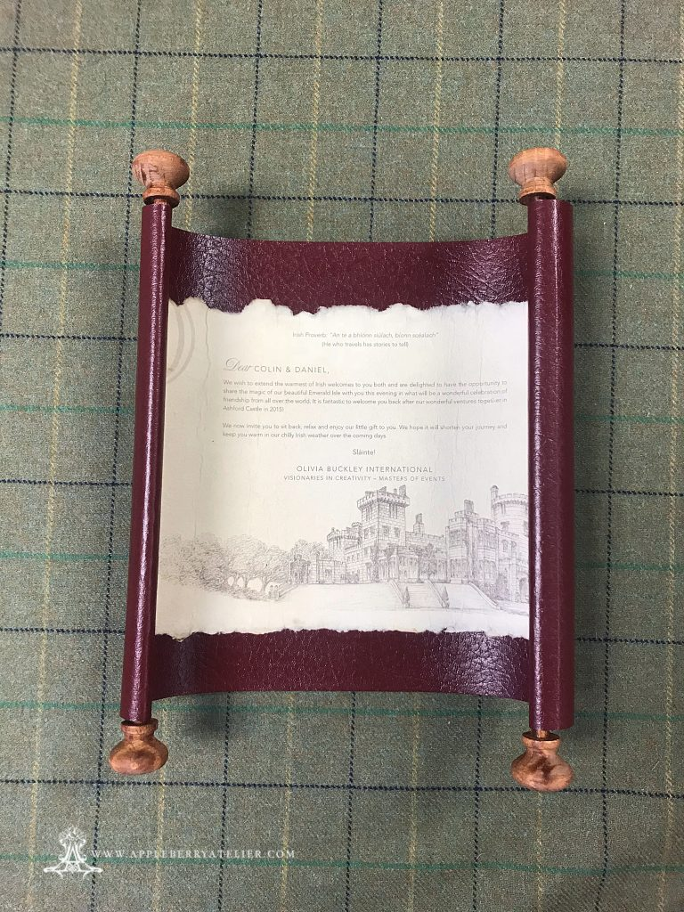 Dromoland Castle Event Scroll Invitation