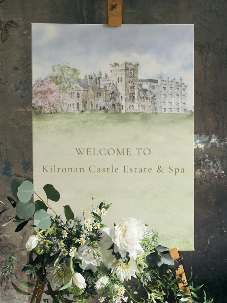 Kilronan Castle Welcome Sign
