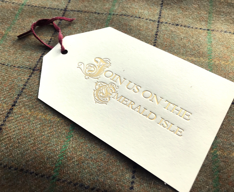 Letterpress Welcome Tag