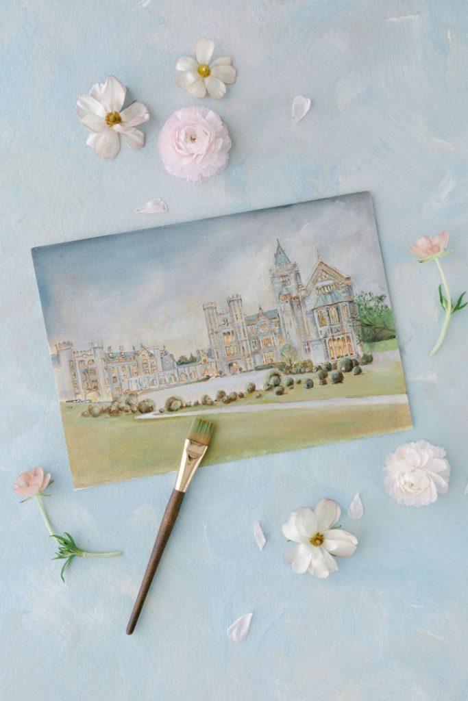 Blossom flower theme wedding invitations