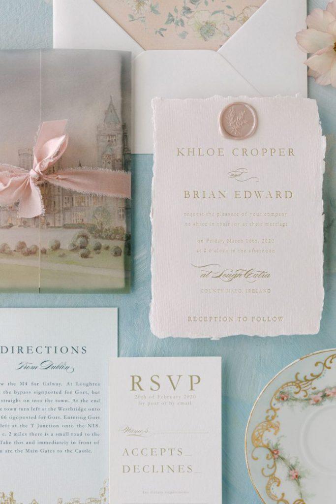 Blossom theme home wedding invitations