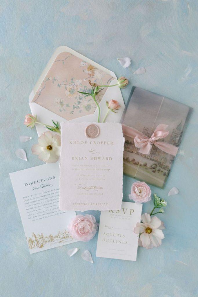 Blossom flower theme home wedding invitations