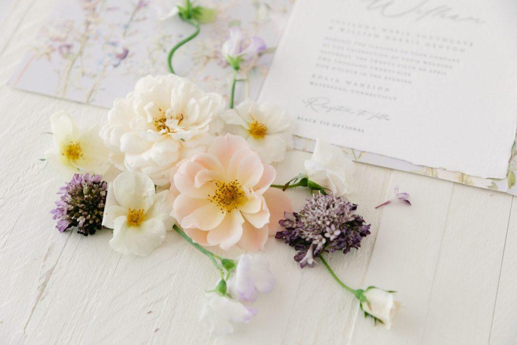 Wedding venue bespoke invitation